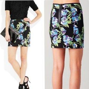 NEW E&J Floral Printed Neoprene Scuba Skirt Small